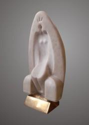 Корж Б. Біла королева, 2012, мармур, бронза, 32х16х12