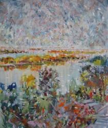 Леся Корж, Острови на світанку, 2013 рік, полотно, олія, 6000Х5000