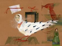 Радько К. Опис Києва, акварель, білило, 34x45cm, 1998