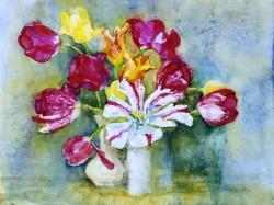 Трегубова Наталія, Тюльпани, 1998, акварель, папір, 36х25см