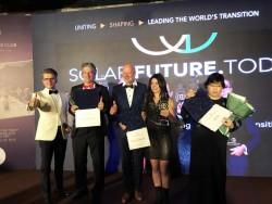 Руслану нагородили в Китаї (Tomasz Slusarz, Professor Martin Green, Ruslana, Mi Yue)