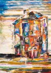 Павлов Олександр Федорович Старий будинок полотно, олія