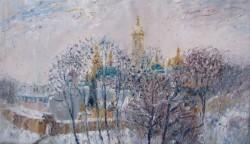 Л.Пуханова - Лавра зимой. холст-масло 2013