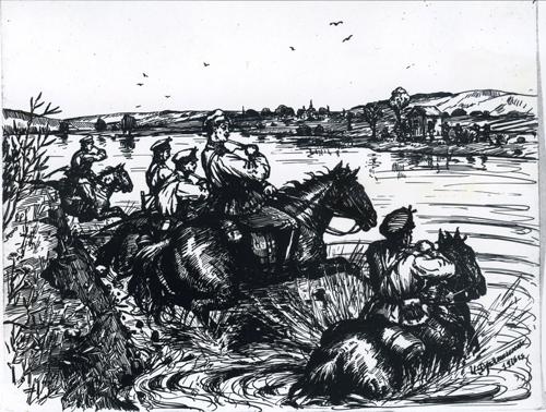 Рисунок И. Дряпаченко, 1916 г