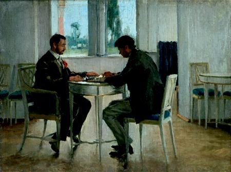 І. К. Дряпаченко. Відпочинок (Гра у шахи). 1913