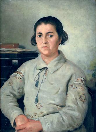 І. К. Дряпаченко. Портрет Ганни Миргородської. 1934