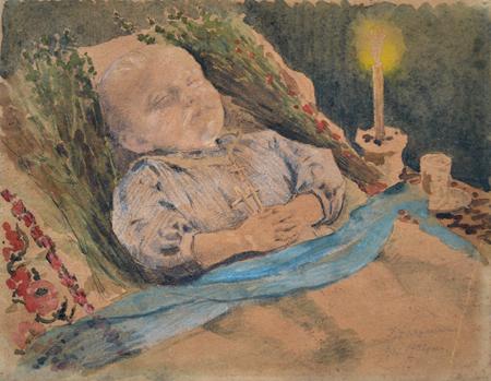 І. К. Дряпаченко. Похорони дитини. 1932