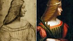 Леонардо да Винчи портрет Изабеллы дЭсте