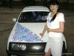петриковская роспись на авто