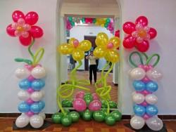 </p> <p>украшение воздушными </p> <p>шарами