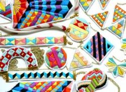 вышивка в украшениях Лорены Мараньйон