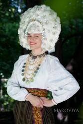 Свадебный венок из гусиного пера