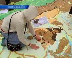 карта из зерен злаков