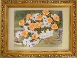 картины из шелковых лент художницы Альбины Вдовиной