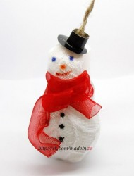 снеговик из лампочки