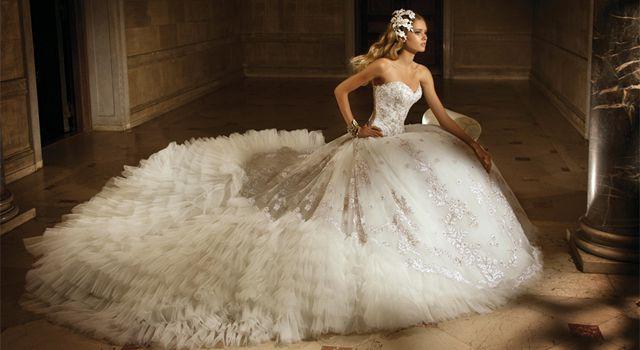 Самые красивы пышные свадебные платья