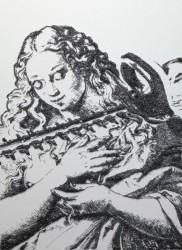 картина степлером